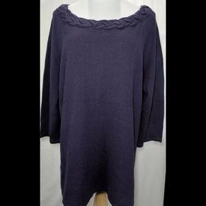 East 5th Purple Crew Neck Sweater Size 2X